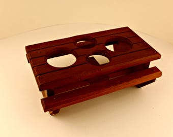 Vintage Wooden Picnic Table Condiment Holder