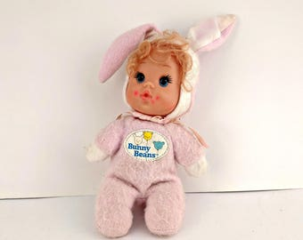 """Vintage Baby Beans """"Bunny Beans"""" Doll - 1983 - Mattel - Adorable"""