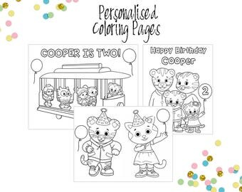 daniel the tiger personalized coloring pages daniel the tiger party daniel the tiger printables