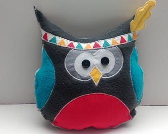 "Small toy or blankie ""Indian OWL"""