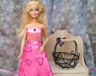 Pink sparkly hearts FPC1708A - Princess dress