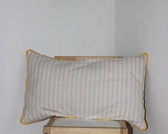 rectangular cushion 50 cm x 30 cm 100% baby cotton diamond/Brown
