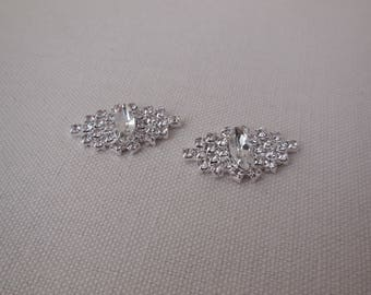 2 pcs small rhinestones appliques bridal rhinestones motifs diamante appliques are for sale. sold by per 2 pieces