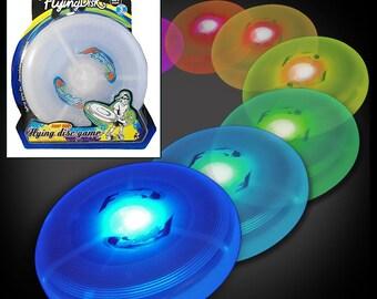 LED Light up Frisbee - Light up Flying Disc Glow UFO Saucer - LED Frisbee Light up Glow Kids Toy