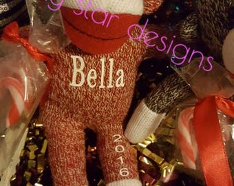 Personalized sock monkey!