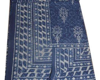 Handmade block print ajarak vegetable dye QUEEN size ajarak bedsheet