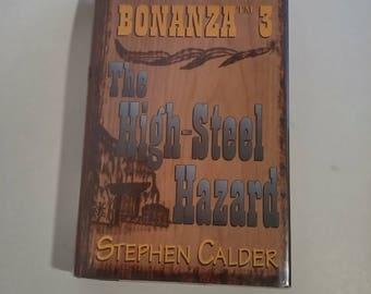 Bonanza 3 The High-Steel Hazard by Stephen Calder Hardcover  Western  Large Print