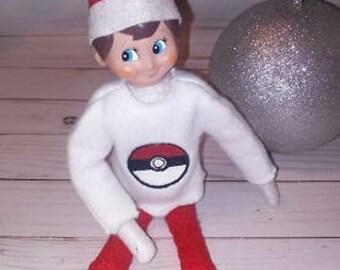 Pokeball Elf Shirt Embroidery Design