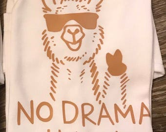 No drama llama, llama shirt, llama gifts, llama shirt for kids, llama shirt girl, no drama llama shirt, llamas shirts, llamas tshirt