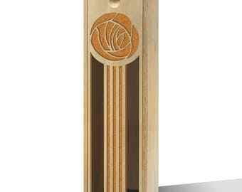 Twisted Envy Rose And Stripes Wooden Wine Box