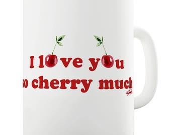 I Love You Cherry Much Ceramic Mug