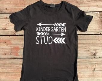 First day of School Kindergarten Stud Shirt
