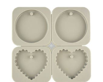 Wax Sachet Silicone Mold - Heart and Round Shape Mold for Aroma High Stone - Aromatherapy Mold