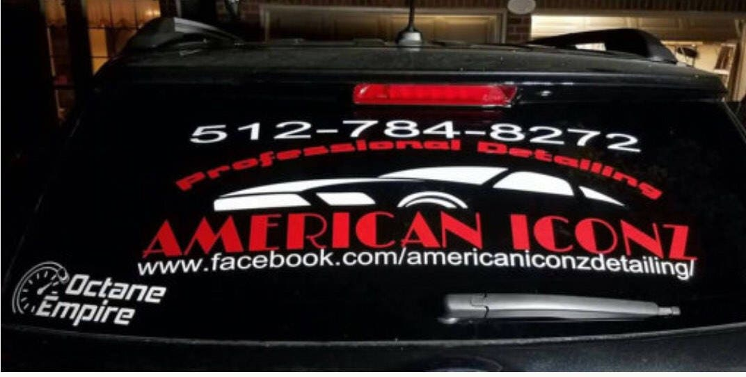 Custom Car Window Decals Sports Team Business Logos Custom - Personalized window decals for cars