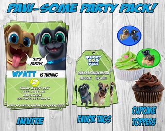 Puppy Dog Pals Invitation, Puppy Dog Pals Invite, Printable, Puppy Dog Pals Birthday Party, Favor Tags