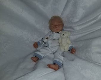 """7"""" ooak partial sculpted, clay baby by TinyToesStudio"""