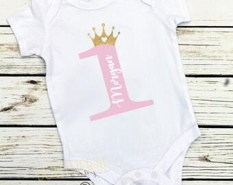 First Birthday, Girl First Birthday, One, Personalized First Birthday Outfit, Smash Cake, Princess Birthday, Wild One, Unicorn Birthday, Two