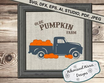 Olde Pumpkin farm, Olde Truck digital download .studio3 file svg eps ai pdf files all included
