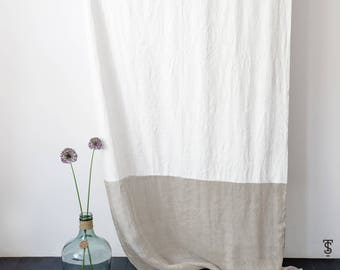 Window Curtains made out of Tyvek® and transparent natural linen, light - thin - no ironing window decor in scandinavian design,