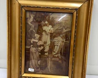 Antique Christolian Glass Picture