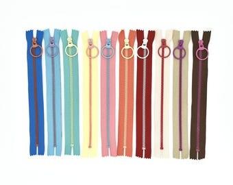Sewing Bag Zippers - Purse Zipper - Sewing Zipper - 8 Inch Zipper - Sewing Notions - Bag Zipper - Purse Sewing - Bag Hardware - Bag Sewing