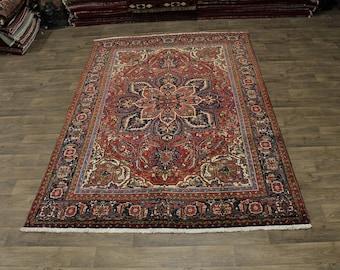 Excellent Handmade Signed Heriz Goravan Persian Area Rug Oriental Carpet 7X11