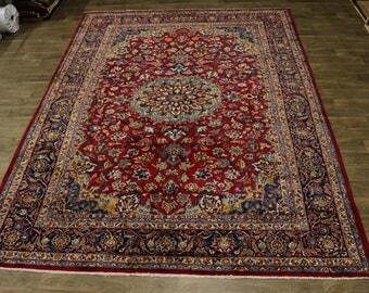 Amazing Classic Design Najafabad Isfahan Persian Rug Oriental Area Carpet 10X13