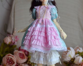 "BJD Dress for a doll ""Pink dreams""."