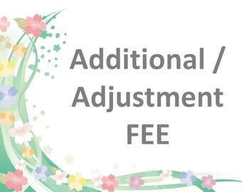 Additional / Adjustment fee : 100 Japanese Yen
