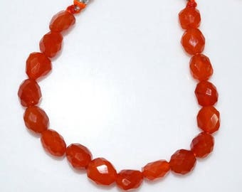 """50% OFF 1 Strand Natural Carnelian Faceted Nuggets Briolette - Carnelian Faceted Tumble , 10x10 - 11x13 mm , 7"""" - BL2513"""