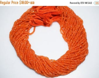 50% OFF Natural Carnelian Micro Faceted Rondelle Beads - Carnelian Faceted Rondelle Beads , 3 mm - MC310