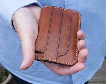 Leather Card Wallet, Leather Card Holder, Mens Wallet, Small Wallet, Brown Wallet, Slim Wallet, Minimalist wallet