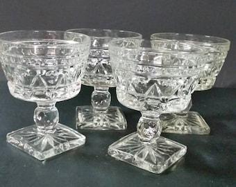 Dessert bowls,  Indiana Glass. Set of 4