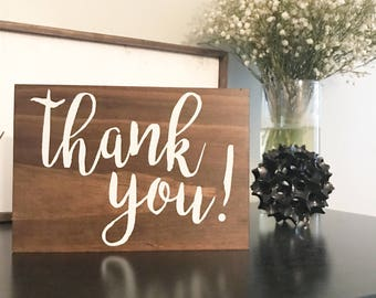 Thank You Sign (for gift and card table)