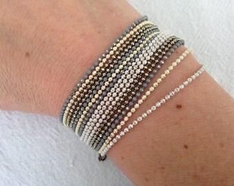 Wedding bracelet chains ball.