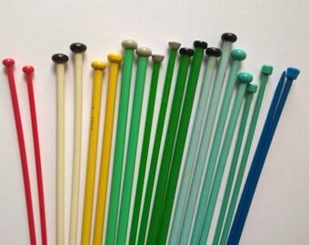 vintage knitting needles plastic