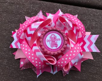 Breast Cancer Awareness hair bow, Breast Cancer Bows, Pink Bows, fundraiser Bows, save the tatas, Gift for her, Breast Cancer Gifts,