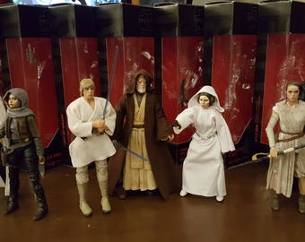 "Custom Painted Black Series 6"" Stars Wars Figures"