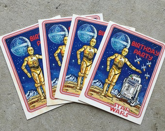 Vintage | Star Wars | Birthday | Party Invitations