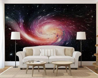 Wall Mural Of The Galaxy, Space Wall Mural, Wall Mural Galaxy, Wall Mural Space, Galaxy Wallpaper
