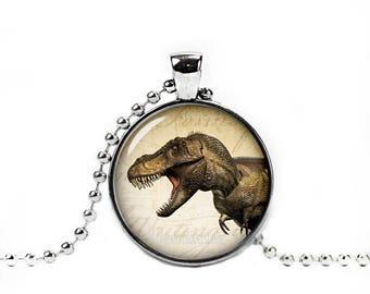 T Rex Pendant T Rex Necklace Dinosaur Necklace Dinosaur Chain Jurassic animal