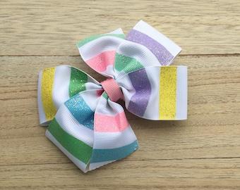 Pinwheel hair bows, pink hair bows, lilac hair bows, easter bows, easter hair bows, pinwheel bows