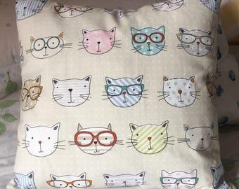 Cute kitty cushion