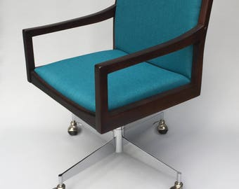 Vintage Mid Century Modern Office Chair by Helikon