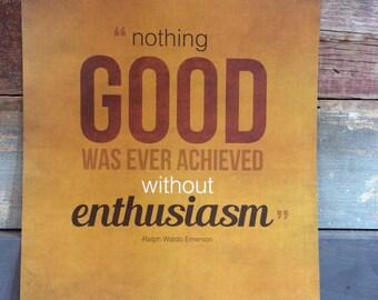 Enthusiasm Poster