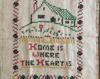 VINTAGE SAMPLER - Home is Where the Heart Is