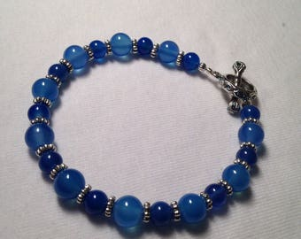 Blue Agate beads.