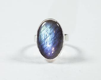 Labradorite Silver Ring US 6.1 (6)