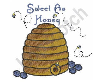Beehive - Machine Embroidery Design