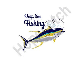 Deep Sea Fishing - Machine Embroidery Design
